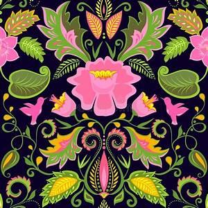 Papier Peint Fleuri Vintage : papier peint floral fleuri de vintage avec les fleurs et les oiseaux exotiques illustration de ~ Melissatoandfro.com Idées de Décoration