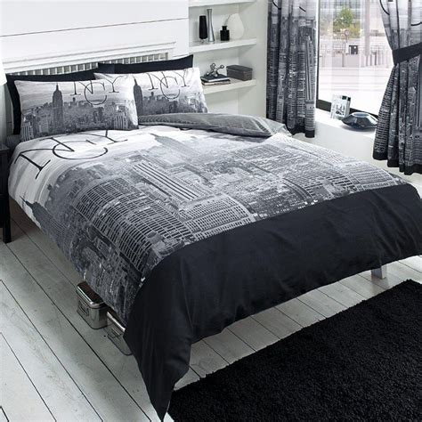new york city skyline bedding nyc themed bedroom ideas - New York City Comforter Set