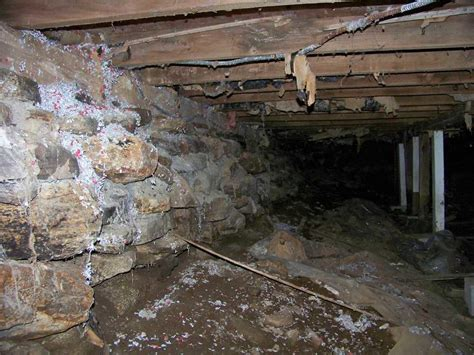 Unfinished Crawl Space In Gilman Ct