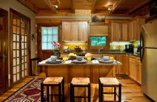 rustic cabin kitchen layout pictures best home