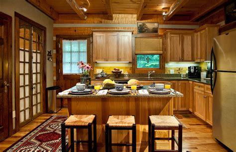 Log Cabin Kitchen  Rustic  Kitchen  Nashville  By. Ideas For Small Living Room With Kitchen. Wall Between Living Room And Dining Room. Living Room Setup Pictures. Design A Living Room Interactive. Living Room W Hotel Minneapolis. Build Your Own Living Room Shelves. Lighting Ideas For Living Room Pinterest. Rubber Flooring Living Room