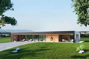 Maison Architecte Plain Pied : maison bois bioclimatique avec bel espace de vie moderne et convivial maison bois architecte ~ Melissatoandfro.com Idées de Décoration