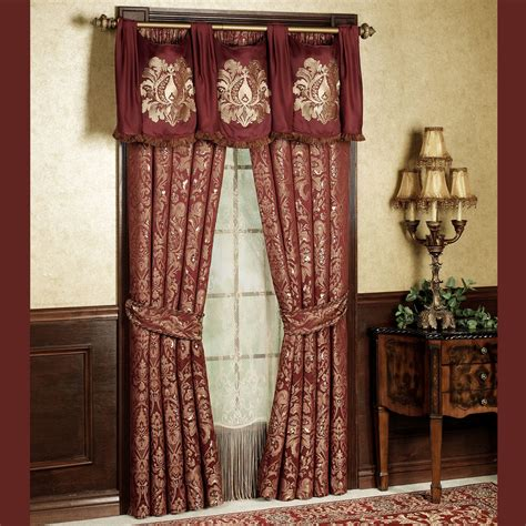 curtains valances and swags palatial swag valance and window treatments