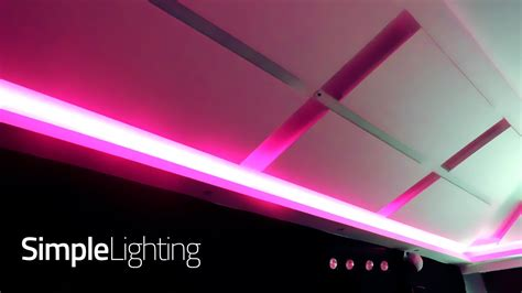 rgb colour changing led strip lighting   function room