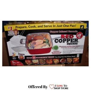 red copper chef  square  pc nonstick oven safe cookware set  shipping  ebay