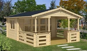 Gartenhaus 20 Qm : gartenhaus ronja mit terrasse 396 x 572 cm 40mm blockbohlen 14 qm terrasse ~ Whattoseeinmadrid.com Haus und Dekorationen