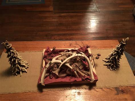 Antlers Centerpiece Antler centerpiece Holiday
