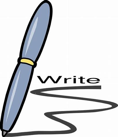 Write Clipart Writing Clip Cliparts Animated Handwriting