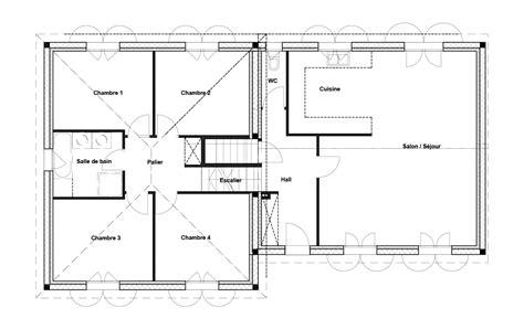 plan maison demi niveau 4 chambres plan maison 4 chambres 160 m 6 pices 4 chambres 568