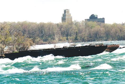 Scow In The Niagara River by Niagara Falls The Scow And The Subchaser A History