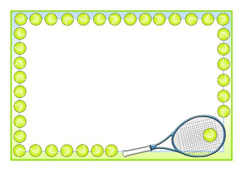 tennis  page borders sb sparklebox