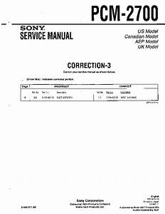 Sony Pcm-2700  Serv Man2  Service Manual