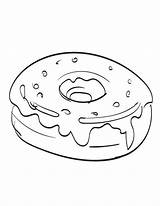 Donut Coloring Pages Food Donuts Printable Bestcoloringpagesforkids Sheets Fun Popular sketch template