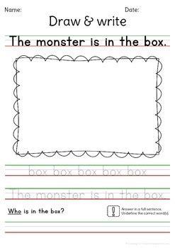 sentence writing practice cvc words read draw write
