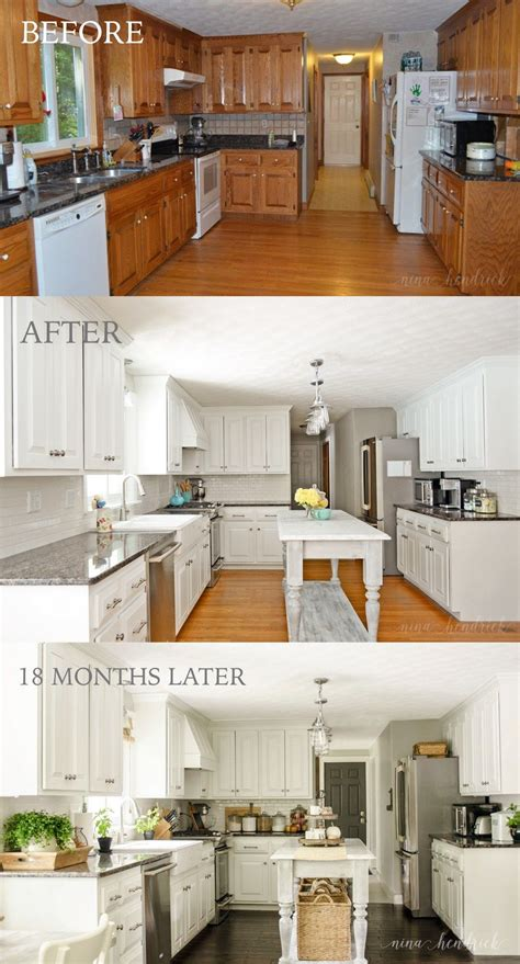 updating oak kitchen cabinets before and after how to paint oak cabinets and hide the grain white