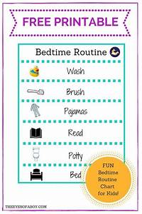 FREE PRINTABLE bedtime routine chart for Little Kids and ...