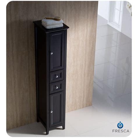 fresca oxford espresso bathroom linen cabinet