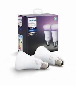 Hue E27 Color : philips hue white and color ambiance 2x single bulb e27 led bulb ~ Eleganceandgraceweddings.com Haus und Dekorationen