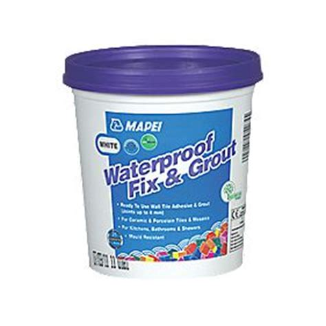 mapei waterproof fix grout white 1 5kg wall tile