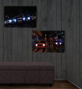 Bild Mit Led Hintergrundbeleuchtung : 2x led bild mit beleuchtung leinwandbild leuchtbild wandbild 60x40cm timer cars ~ Bigdaddyawards.com Haus und Dekorationen