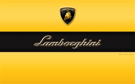 lamborghini font logo automotiv yellow black hd wallpaper