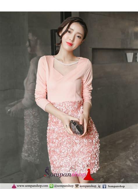 แฟชั่นชุดเดรสสีชมพูสวยๆ