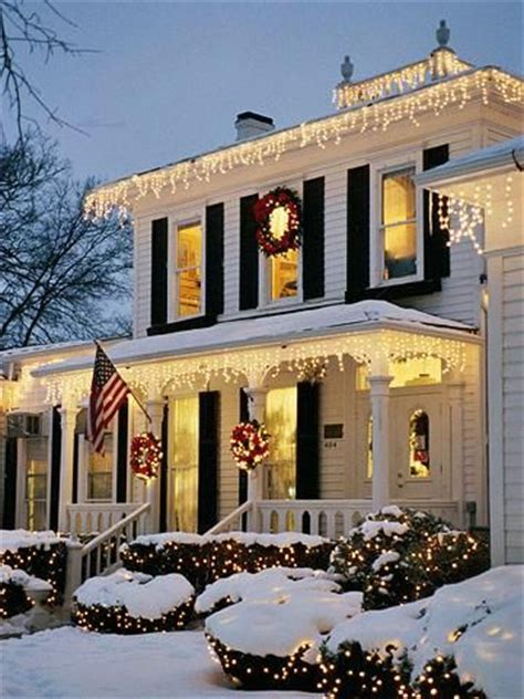 Christmas Curb Appeal  Beautiful, Snow And House