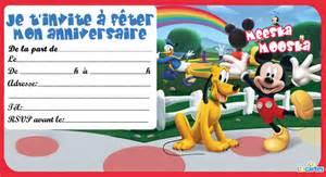 carte d anniversaire a imprimer mickey coleteremelly