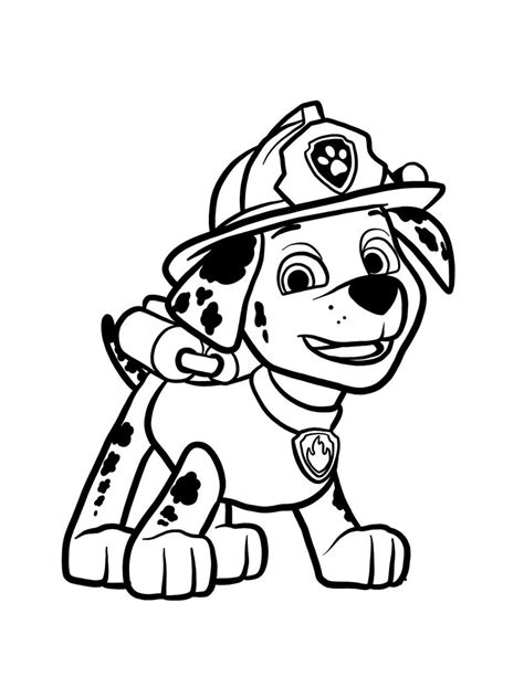 marshall paw patrol coloring pages   print marshall paw patrol coloring pages