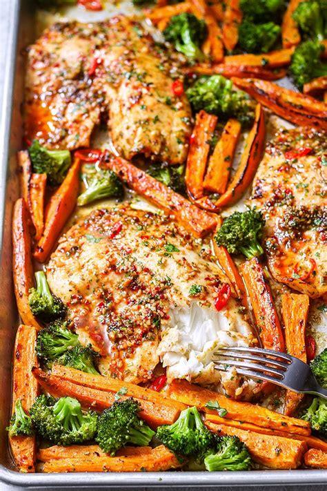 sheet pan chili lime tilapia recipe  veggies eatwell