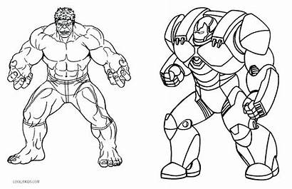Hulk Coloring Pages She Printable Getcolorings Pa