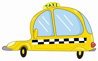 Taxi Cartoon Dibujos Clipart Karikatur Tassi Singapore