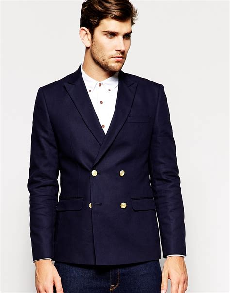 asos fit vest in black asos slim fit breasted blazer with gold buttons in