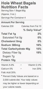 whole wheat bagels nutrition