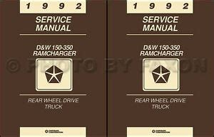 service manual how fix replacement 1992 dodge d250 club for a valve gasket service manual 1992 dodge pickup truck ramcharger repair shop manual gas