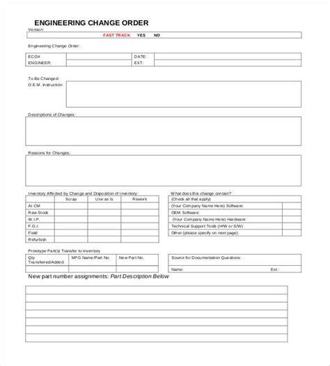 change order form template 24 change order templates pdf doc free premium templates