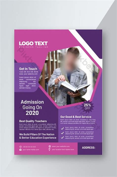 college  university admission flyer template ai