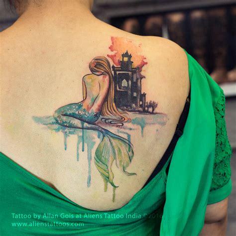 watercolor mermaid tattoo  allan gois  aliens tattoo