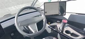 First ever look at the prototype Tesla Semi Truck interior