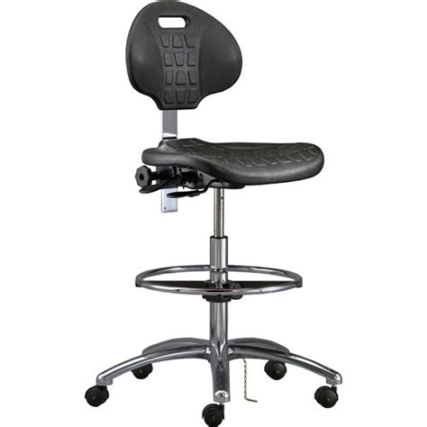 bevco 7550 industrial polyurethance chair black with