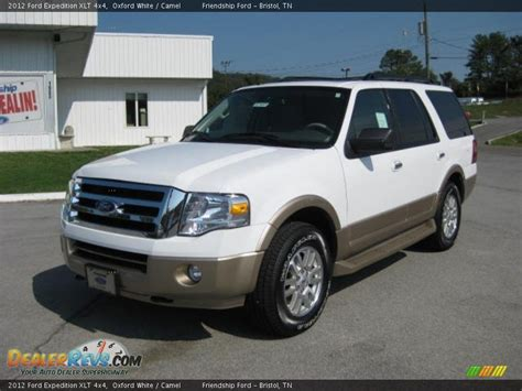 2012 ford expedition xlt 4x4 oxford white camel photo 2