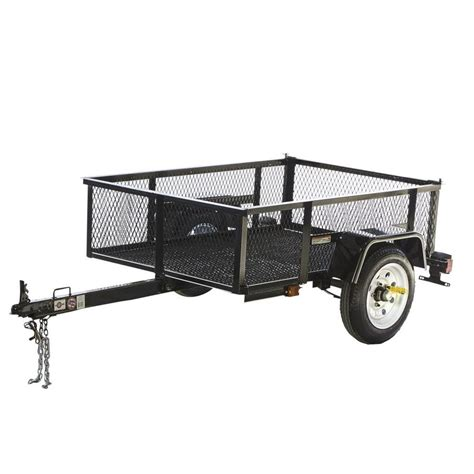 shop carry on trailer 3 5 ft x 5 ft wire mesh utility