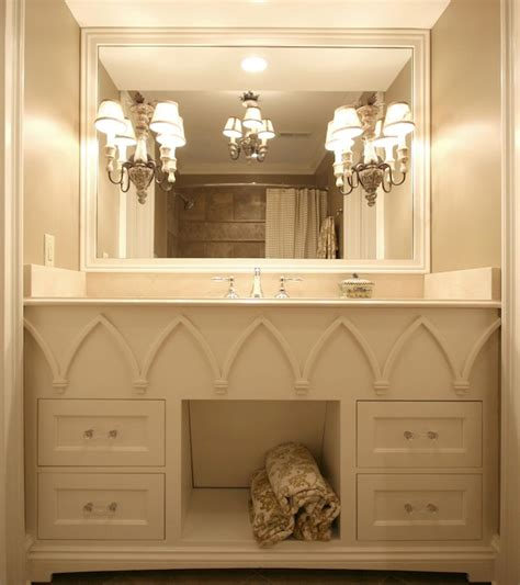Inset Bathroom Mirror by Arch Inset Vanity Mirror Transitional Bathroom