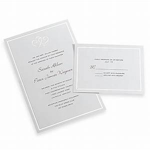 Gartner studios 50 count platinum hearts invitation kit for Wedding invitation kits 50 count