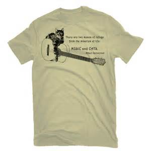 shirts with cats on them cat and guitar t shirt cats albert