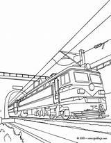 Train Coloring Electric Zum Tunnel Ausmalen Coloriage Locomotora Colorear Dessin Imprimer Hellokids Colorare Disegni Trains Drawing Tren Leaving Dampflokomotive Alte sketch template