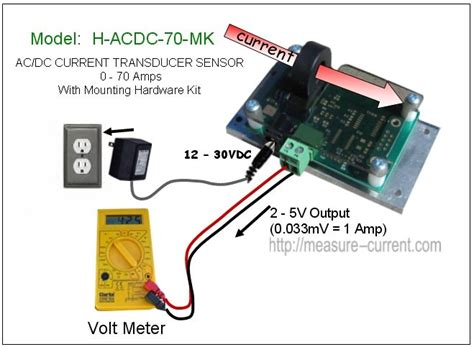 Low Cost Current Sensor Amps Hall Effect Transducer