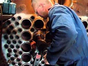 Installing Flue Tubes In The Boiler Of A Steam Loco