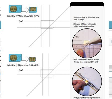 cut   micro  nano sim cards