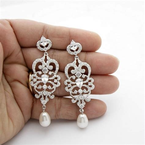 bridal chandelier earrings vintage style chandelier